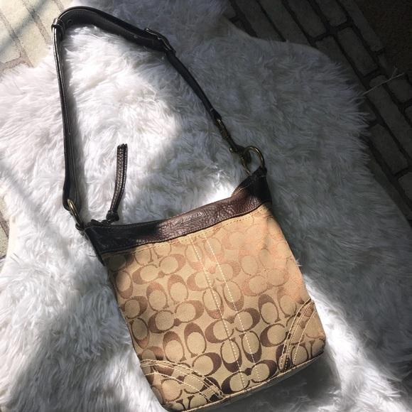ec16059d188b Coach Handbags - Coach Signature crossbody shoulder bucket bag